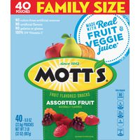 Motts Fruit Flavored Snacks, Assorted Fruit, Family Size