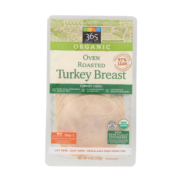 365 everyday value® Organic Oven Roasted Turkey Breast, 6 Oz.