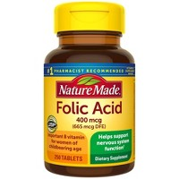 Nature Made Folic Acid 400 mcg (665 mcg DFE) Tablets - 250ct