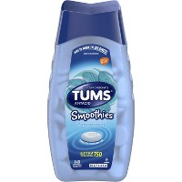 TUMS Extra Strength Antacid Smoothies Peppermint Chewable Tablets 140ct