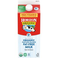 Horizon Organic Nonfat High Vitamin D Milk, Half Gallon