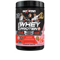 Six Star Pro Nutrition Elite Series 100% Whey Protein Powder, Strawberry, 20g Protein, 2lb, 32oz