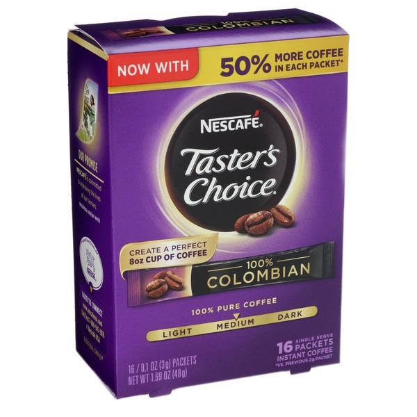 Nescafe Taster's Choice 100% Colombian Medium Roast Instant Coffee