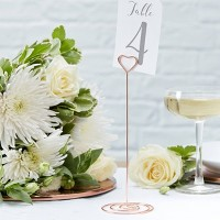 Table Number Stands Party Decorations Rose Gold