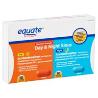 Equate Maximum Strength Day & Night Sinus Caplets, 20 Ct
