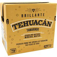 Tehuacan Tamarindo Sparkling Mineral Water Glass Bottle
