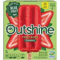 Outshine Strawberry Frozen Fruit Bars 6 Pack