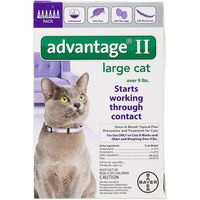 Advantage II Large Cat Over 9 lbs Starts Working on Contact Once A Month Topical Flea Prevention for Cats