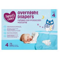 Parent's Choice Overnight Diapers, Size 4, 78 Count