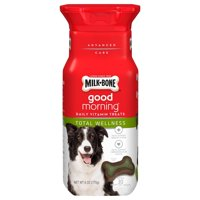 Milk-Bone Good Morning Daily Vitamin Dog Treats, Total Wellness, 6 Oz.