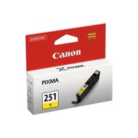 Canon CLI-251 Yellow Ink Tank, Compatible with PIXMA iP7220, PIXMA MG7520, PIXMA MG6620, PIXMA MG6320, PIXMA MG5420, PIXMA MG5522, PIXMA MG5622 and PIXMA MX922