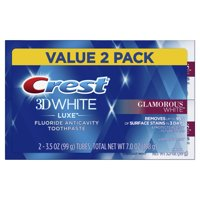 Crest 3D White Luxe Glamorous White Toothpaste, 3.5 oz, Pack of 2