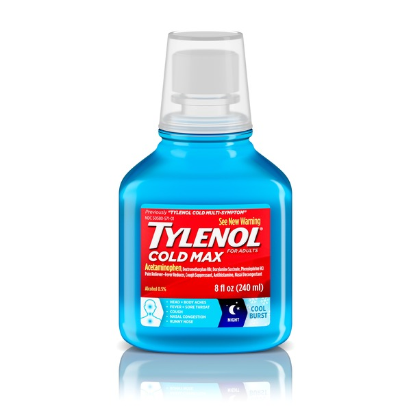 Tylenol Cold Max Night Cool Burst Liquid