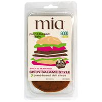 Mia Plant-based Spicy & Seasoned Salame Style Deli Slices