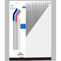 Mainstays Stainless Steel Straw Set