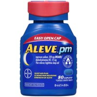Aleve PM Soft Grip Arthritis Cap Pain Reliever/Nighttime Sleep-Aid Naproxen Sodium Caplets, 220 mg, 80 Ct