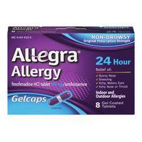 Allegra Allergy 24 Hour Indoor And Outdoor Gelcaps - 8 CT