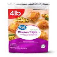 Great Value All Natural Chicken Thighs, 64 oz