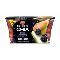 (2 Cups) Del Monte Fruit & Chia Pears in Blackberry Flavored Chia, 7 oz cups