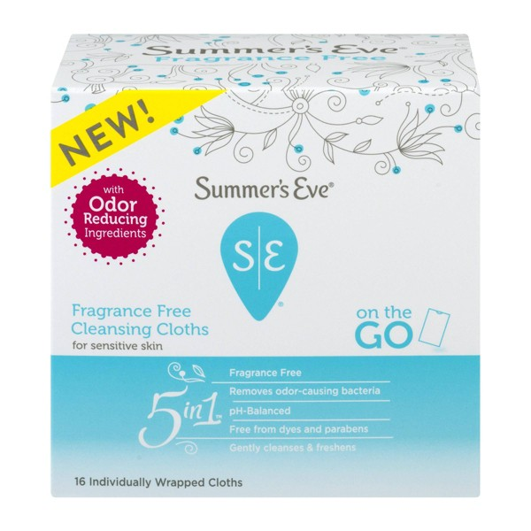 Summer's Eve Fragrance Free Cloths - 16ct