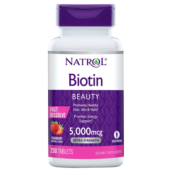 Natrol Biotin 5 000 Mcg Fast Dissolve Tablets 250 Ct From