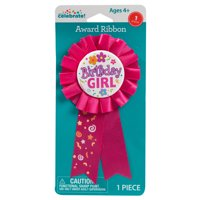 Birthday Girl Award Badge, Hot Pink, 1ct