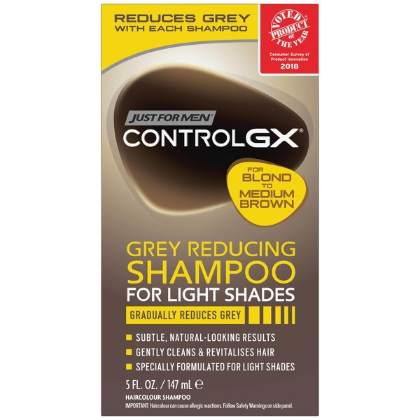 Just For Men Control GX Gray Reducing Shampoo For Lighter Shades - 5 fl oz
