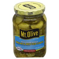 Mt. Olive No Sugar Added Bread & Butter Chips Pickles