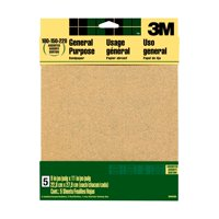 3M Aluminum Oxide Sandpaper, 9 in. x 11 in., Assorted Grits, 5/Pack