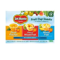 Del Monte Fruit Cup Family Pack - 12ct