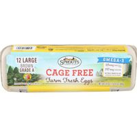 Sprouts Large Cage Free Grade A Omega 3 Eggs