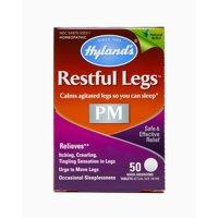 Hyland's Restful Legs PM Tablets, Calms agitated legs so you can sleep, 50 Count