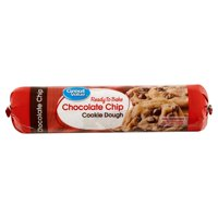Great Value Ready to Bake Chocolate Chip Cookie Dough, 16.5 oz