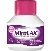 MiraLAX Laxative Powder for Gentle Constipation Relief, 7 Doses