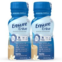 Ensure Enlive Meal Replacement Shake, 20g Protein, 350 Calories, Advanced Nutrition Protein Shake, Vanilla, 8 fl oz, 4 Bottles