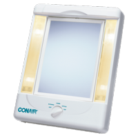 Conair Two-Sided Lighted Makeup Mirror with 4 Light Settings, White, TM8LX3