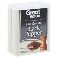Great Value Pure Ground Black Pepper, 3 oz