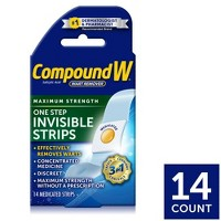 Compound W Maximum Strength One Step Invisible Wart Remover Strips - 14 ct