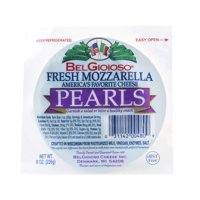 BelGioioso Fresh Mozzarella Cheese Pearls, Gourmet Snacking Cheese, 8 Oz Pouch