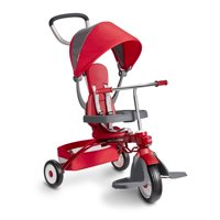 Radio Flyer, EZ Fold 4-in-1 Stroll 'n Trike, Folding Trike, Red