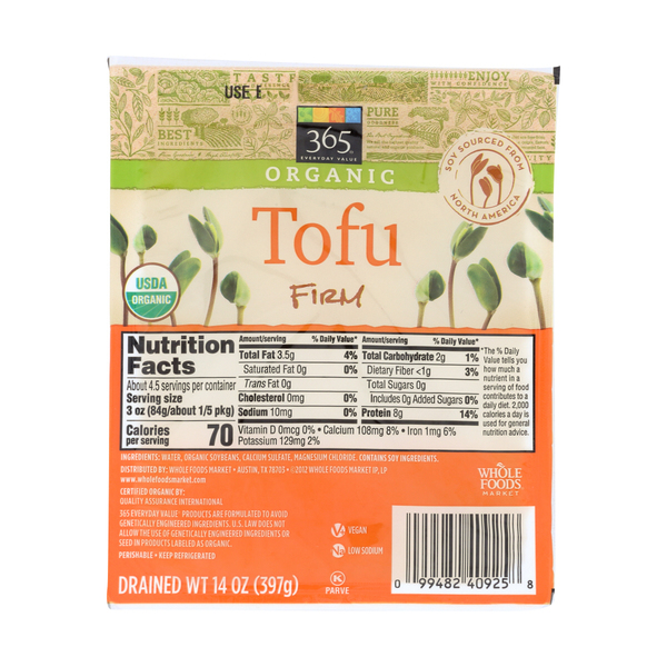 365 everyday value® Organic Firm Tofu, 14 oz