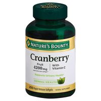 Nature's Bounty Cranberry Fruit 4200mg Herbal Supplement Softgels