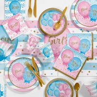 Balloon Print Gender Reveal Party Supply Kit