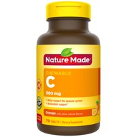 Nature Made Chewable Vitamin C 500 mg Tablets, 70 Count to Help Support the Immune System†