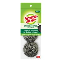 Scotch-Brite Stainless Steel Scrubbing Pads, 3 Pack