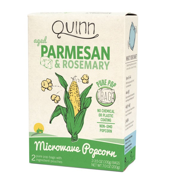 Quinn Parmesan And Rosemary Popcorn - 3.5oz 2ct
