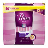Poise Incontinence Pads, Original Design, Ultimate Absorbency, Long