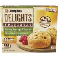 Jimmy Dean Delights® Turkey Sausage and Veggies Frittatas, 6 Count (Frozen)