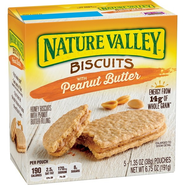 Natural Valley Peanut Butter Biscuits - 5ct
