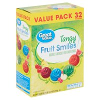 Great Value Tangy Fruit Smiles, 28.8 Oz.